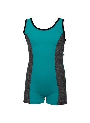 Dagi Kız Çocuk Şortlu Yüzücü Mayo Mavi